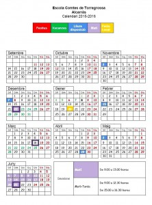 Calendari Escolar 15-16